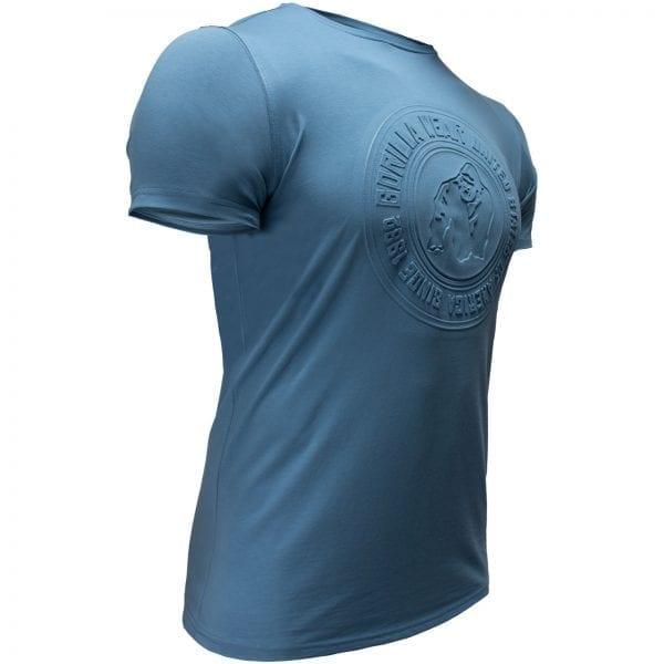 Fitness T-shirt Blauw - Gorilla Wear San Lucas 3