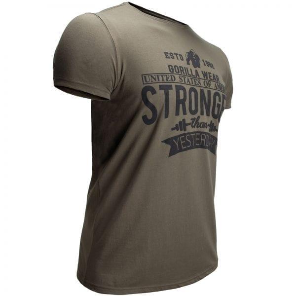 Fitness T-shirt Groen - Gorilla Wear Hobbs 3