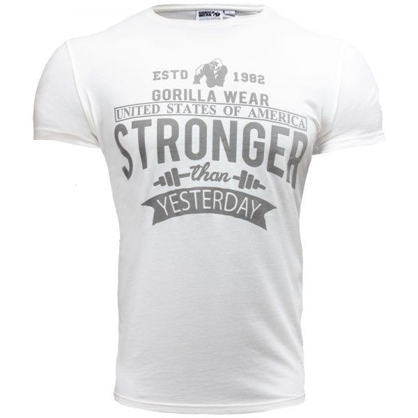 Fitness T-shirt Wit - Gorilla Wear Hobbs 1
