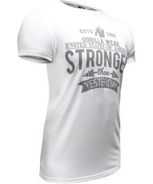 Fitness T-shirt Wit - Gorilla Wear Hobbs 3