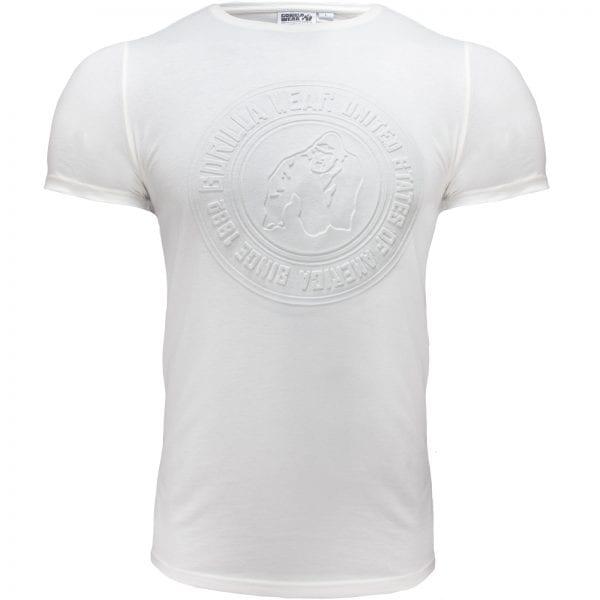 Fitness T-shirt Wit - Gorilla Wear San Lucas 1