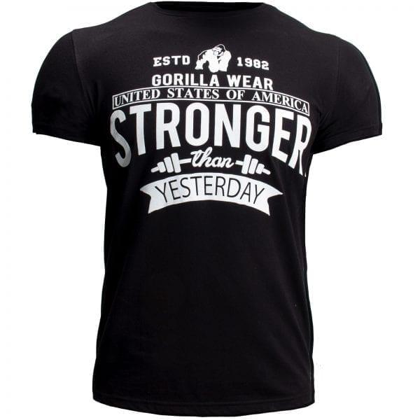 Fitness T-shirt Zwart - Gorilla Wear Hobbs 1