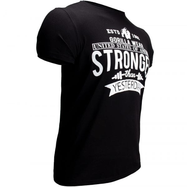 Fitness T-shirt Zwart - Gorilla Wear Hobbs 3