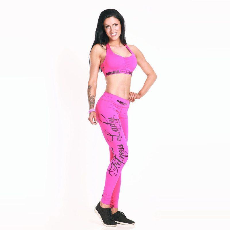 Sportlegging Roze.Nebbia Supplex 807 Sporttop Dames Roze Fitnesskledingshop Com