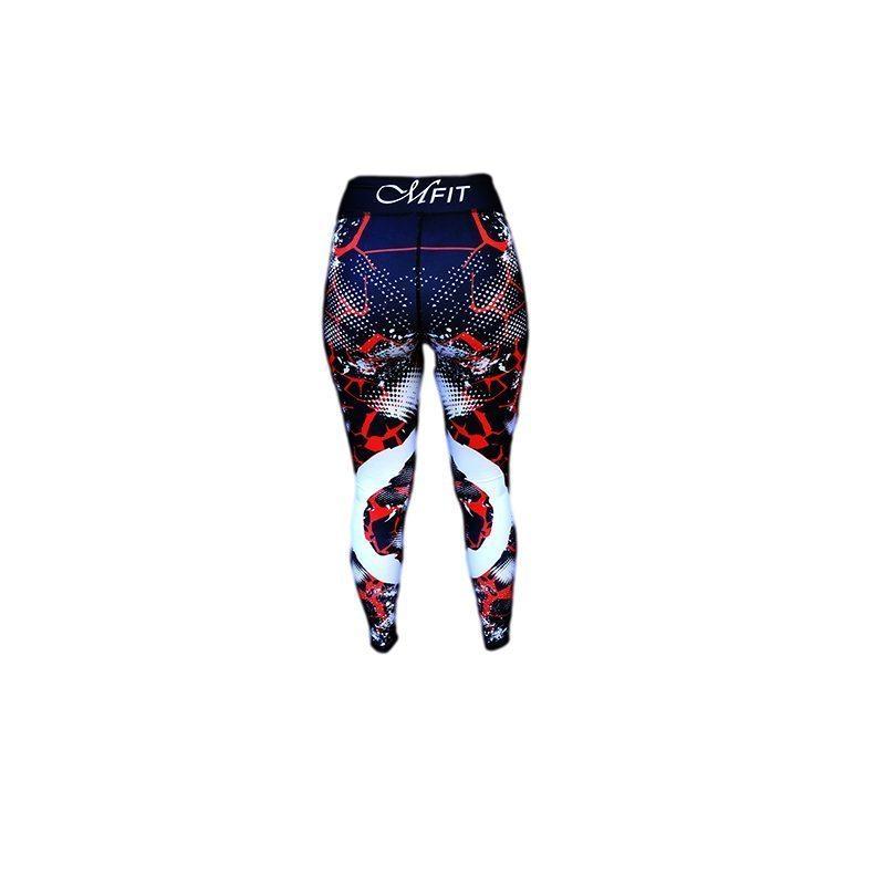 Sportlegging Rood.Sportlegging Zwart Rood Mfit Sportswear Redfire