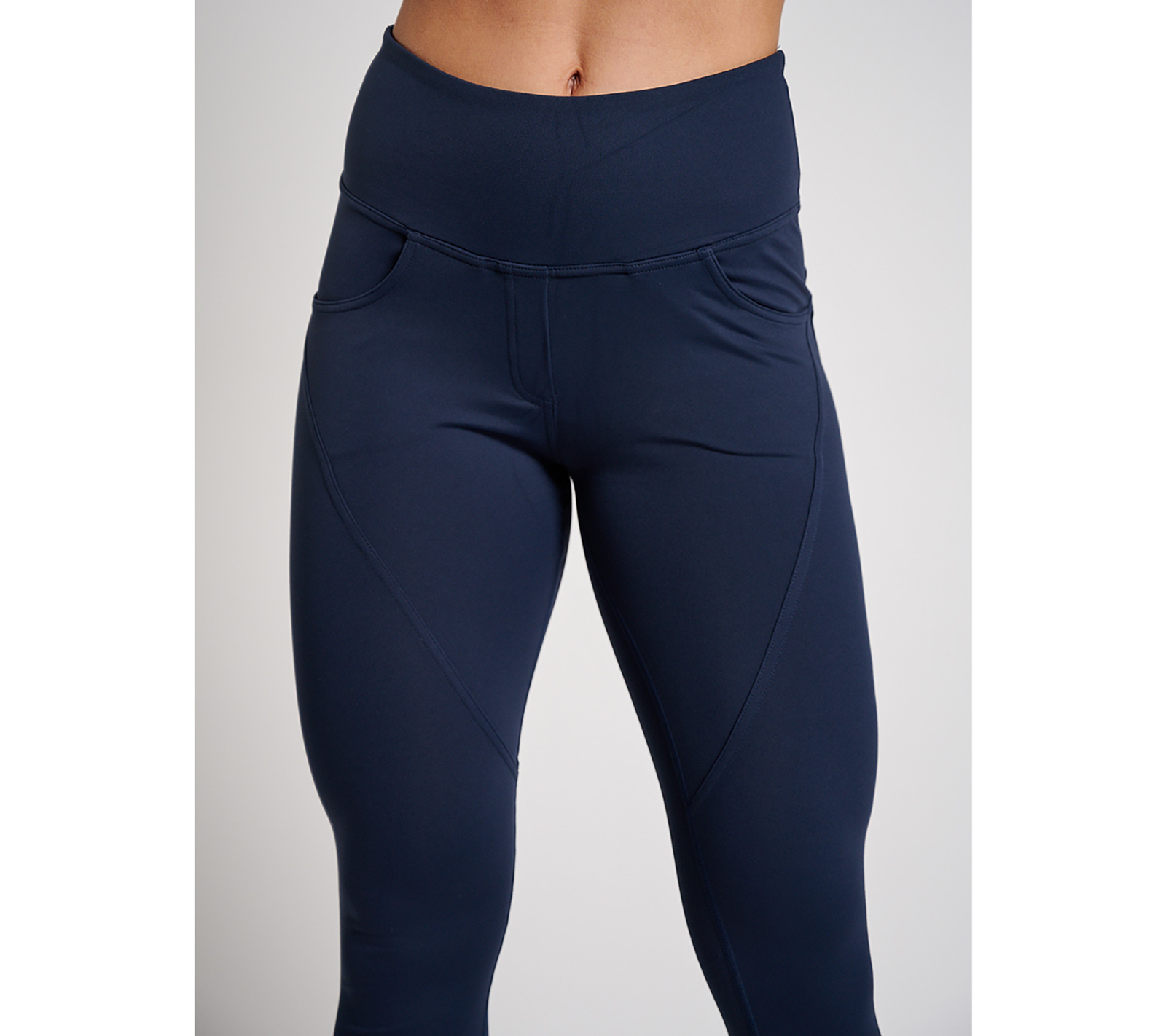 Fitnesslegging Dames High Waist Tight Donkerblauw XXL Sportswear Tight High Waist Legging
