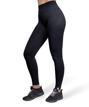 Fitnesslegging Dames Zwart Seamless - Gorilla Wear Yava 1